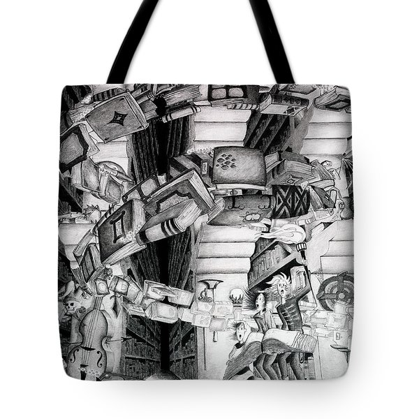 Spell Unleashed In The Library Tote Bag