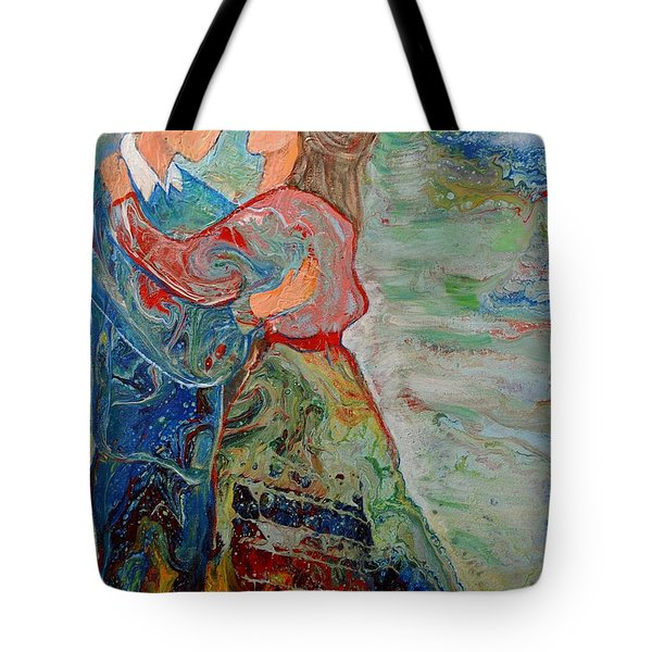 Tote Bag featuring the painting Spending Time With You by Deborah Nell