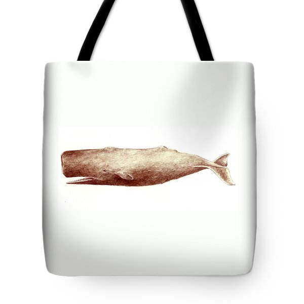 Sperm Whale Tote Bag by Michael Vigliotti