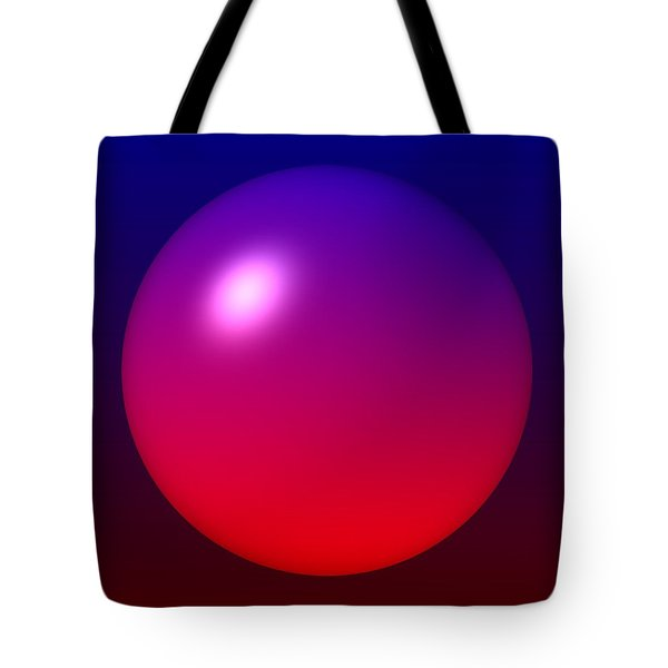 Tote Bag featuring the digital art Sphere by Lyle Hatch