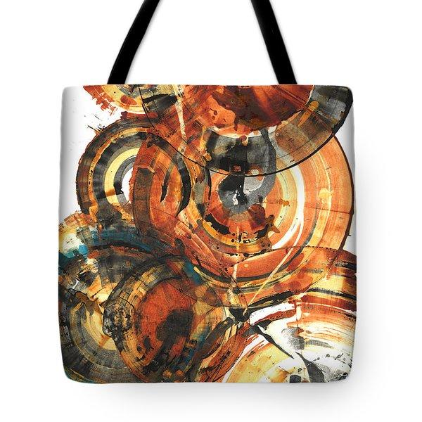 Tote Bag featuring the painting Sphere Series 1022.050212 by Kris Haas