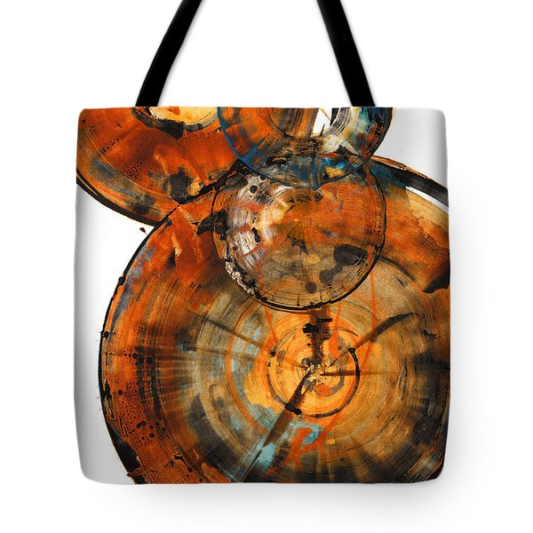 Tote Bag featuring the painting Sphere Series 1027.050412 by Kris Haas
