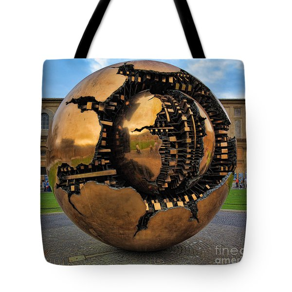 Sphere Within Sphere Tote Bag by Inge Johnsson