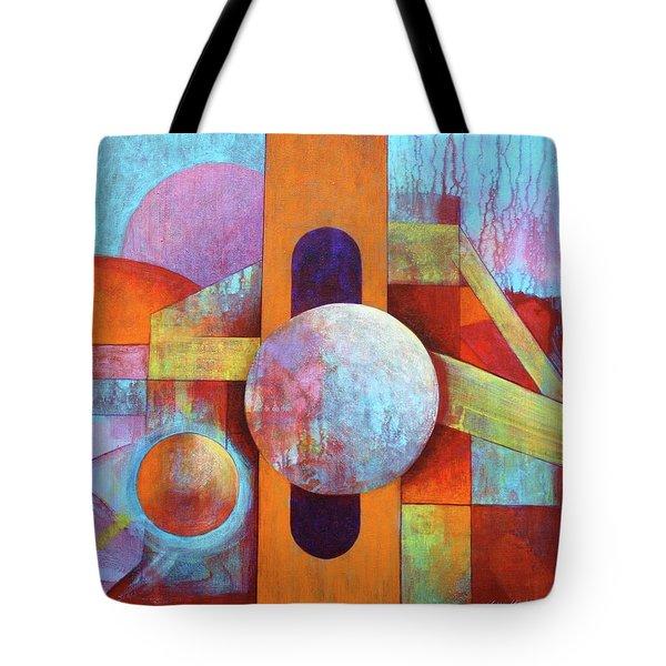 Spheres And Beams Tote Bag by J W Kelly