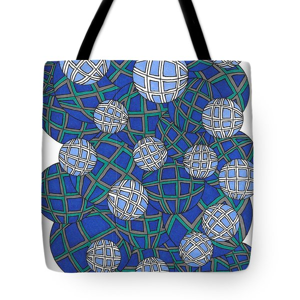 Spheres In Blue Tote Bag