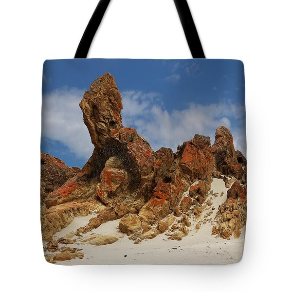 Sphinx Of South Australia Tote Bag by Stephen Mitchell