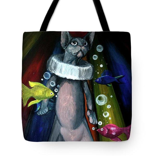 Sphynx Clown Tote Bag