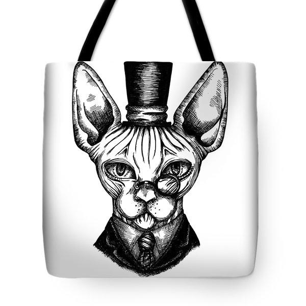 Sphynx Gentleman Tote Bag