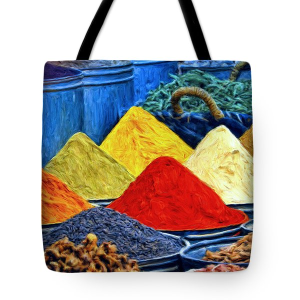 Spice Market In Casablanca Tote Bag