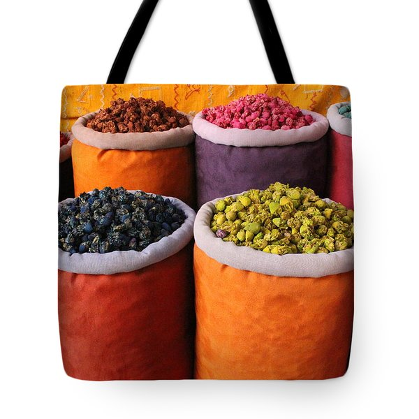 Tote Bag featuring the photograph Spice Rainbow by Ramona Johnston
