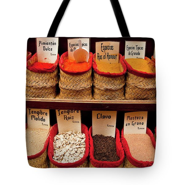 Tote Bag featuring the photograph Spices  by Harry Spitz