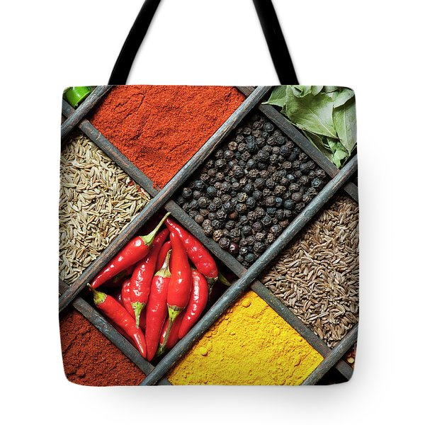 Spices Tote Bag by Tim Gainey