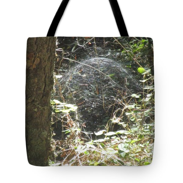Tote Bag featuring the photograph Spider Dome by Marie Neder