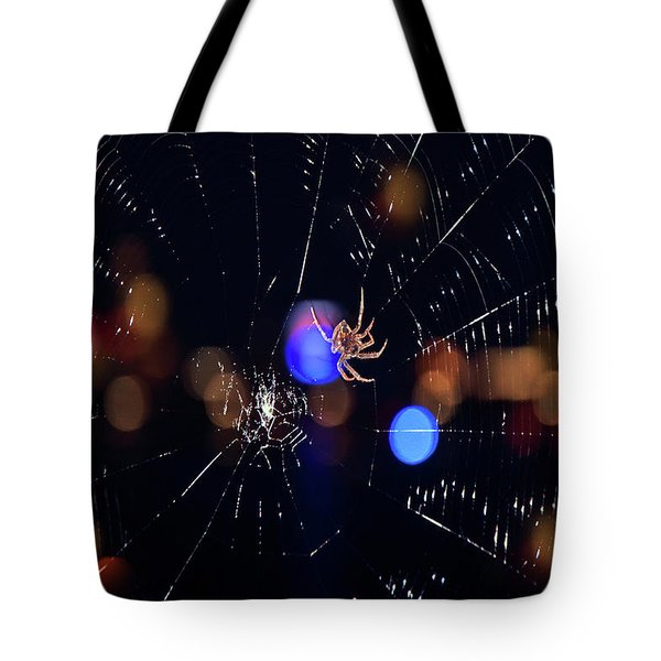 Tote Bag featuring the photograph Spider by Joann Vitali