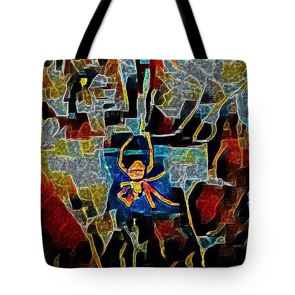 Spider Tote Bag by Karen Newell