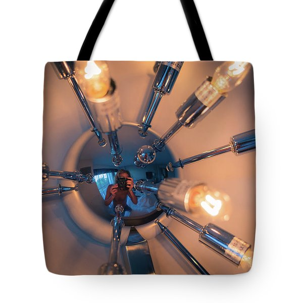 Spider Light Reflected Portrait Tote Bag