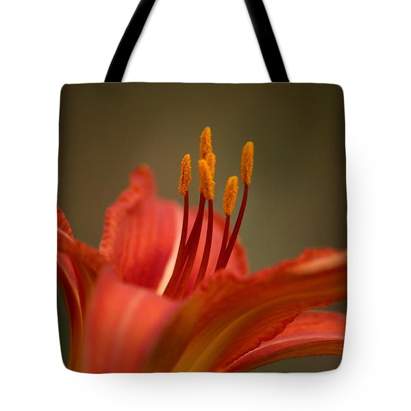 Spider Lily Tote Bag by Cathy Harper