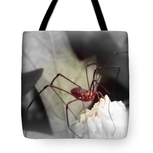 Spider On A Flower Tote Bag