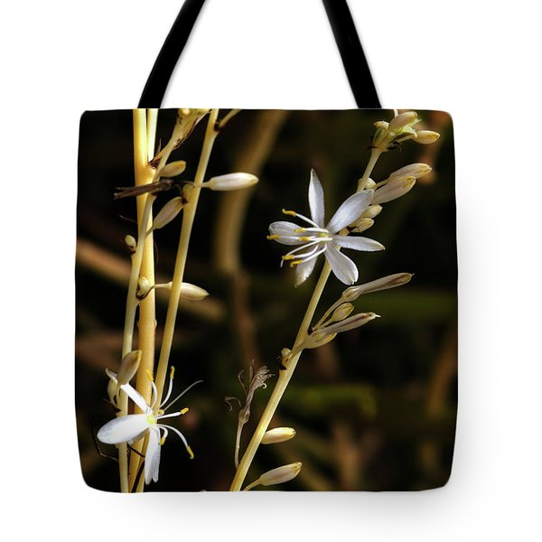 Spider Plant Blossoms Tote Bag