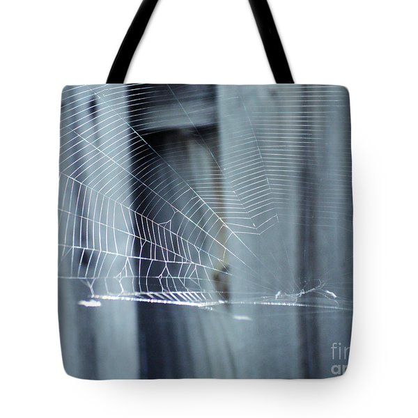 Tote Bag featuring the photograph Spider Web by Megan Dirsa-DuBois