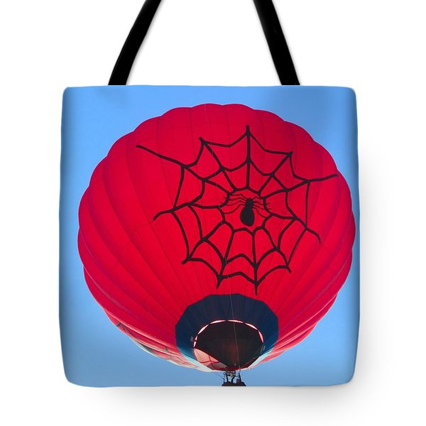 Tote Bag featuring the photograph Spiderballoon by Brenda Pressnall