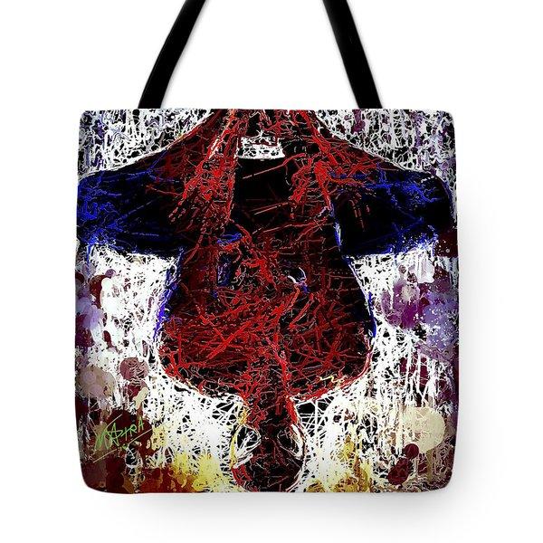 Spiderman Hanging Around Tote Bag