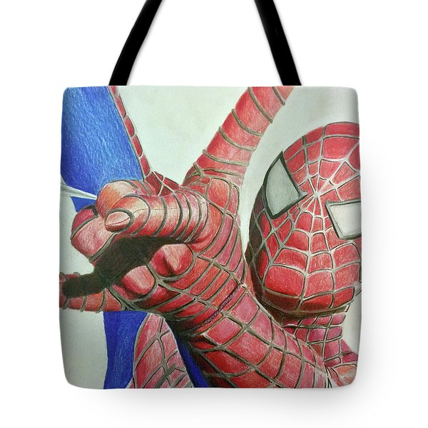 Spiderman Tote Bag by Michael McKenzie