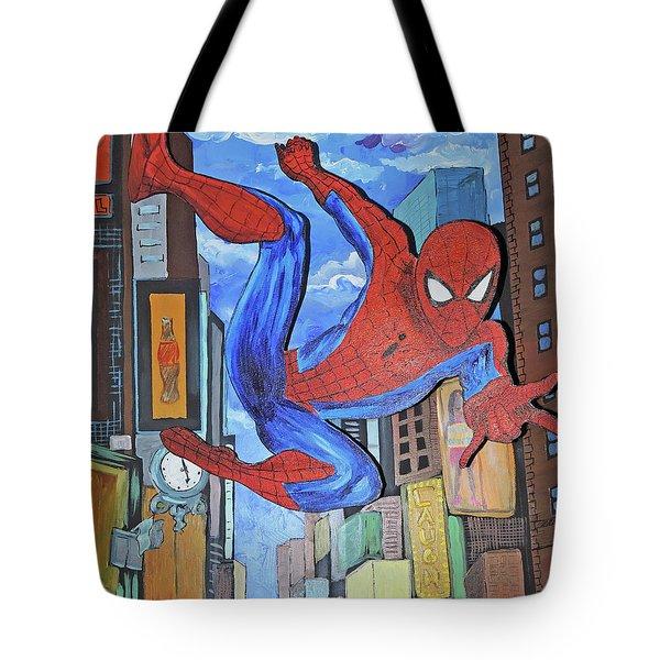 Spiderman Swings Tote Bag