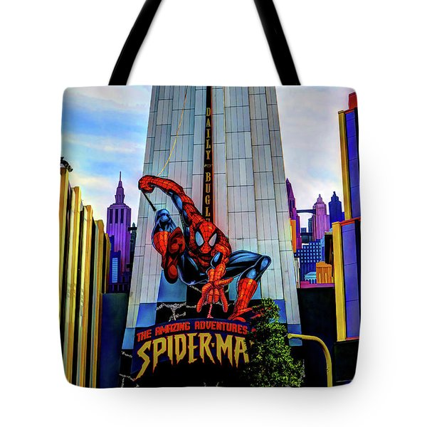Tote Bag featuring the photograph Spiderman by Tom Prendergast