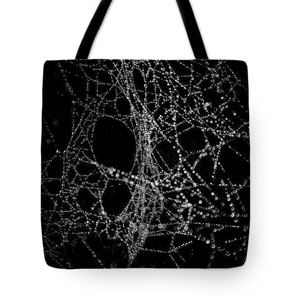 Tote Bag featuring the photograph Spiderweb No 4 by Brian Carson