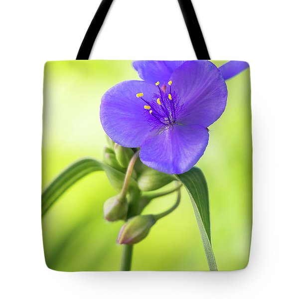 Spiderwort Wildflower Tote Bag