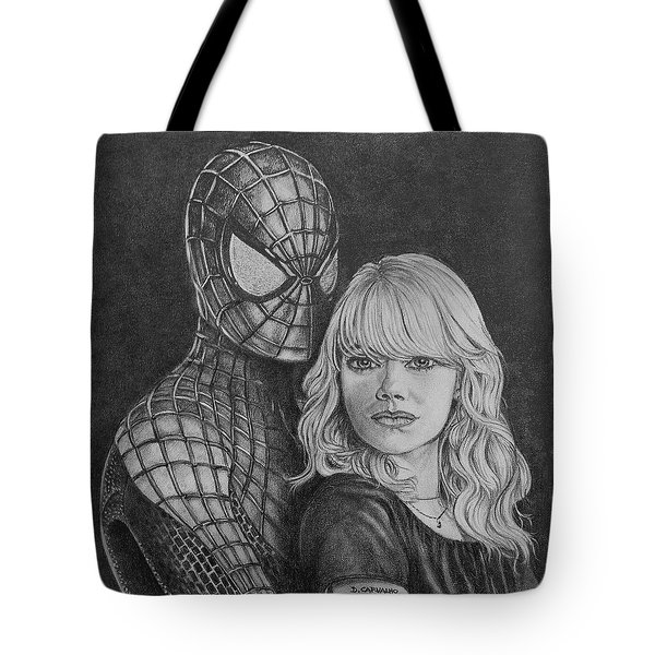 Spidey And Gwen Tote Bag