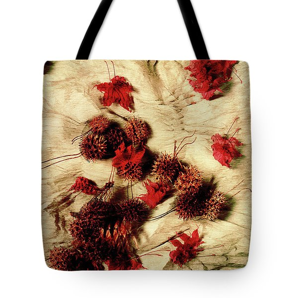 Spiked Nuts Red Tote Bag