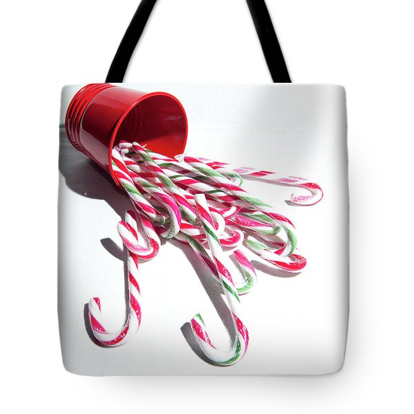 Spilled Candy Canes Tote Bag