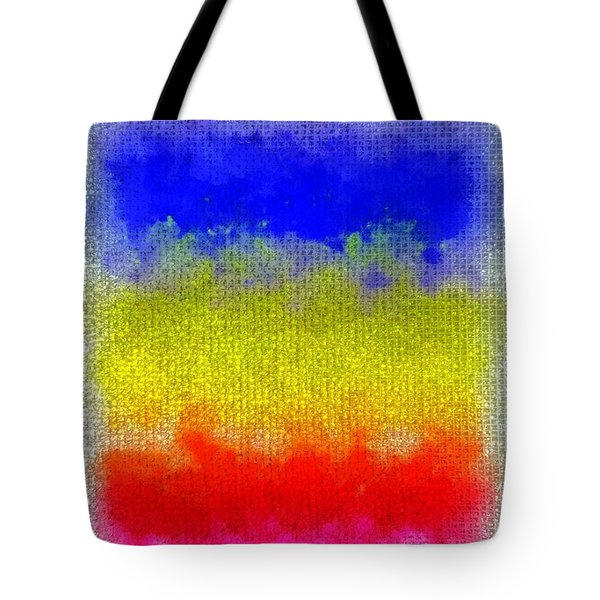 Tote Bag featuring the digital art Spilled Paint 1 by Darla Wood