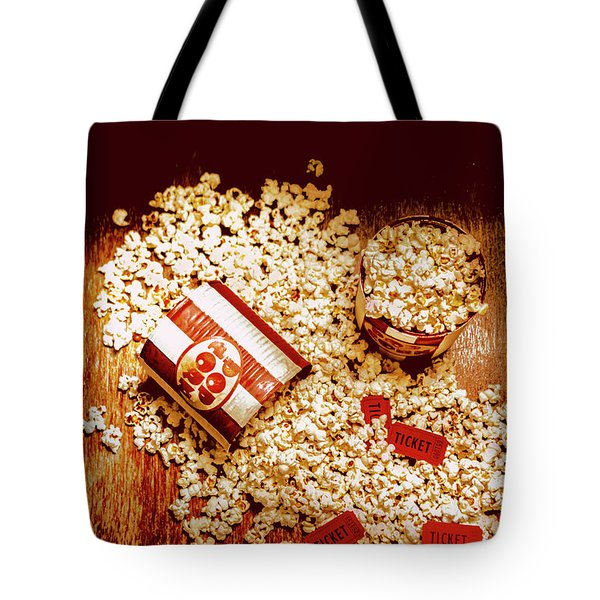 Spilt Tubs Of Popcorn And Movie Tickets Tote Bag