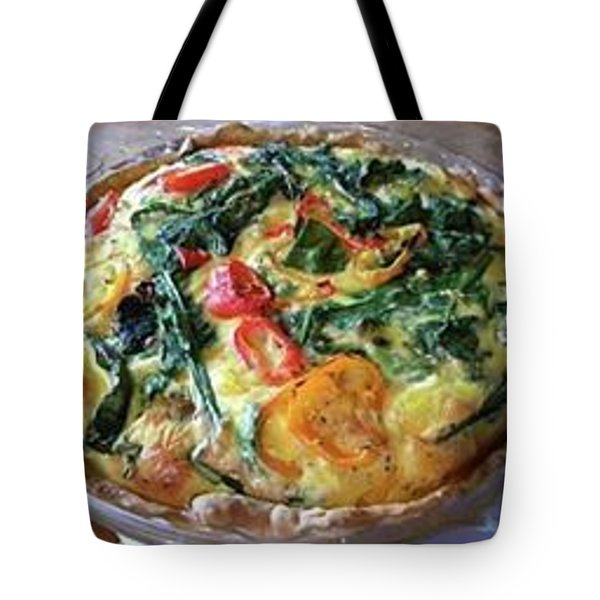 Spinach And Pepper Quiche Tote Bag
