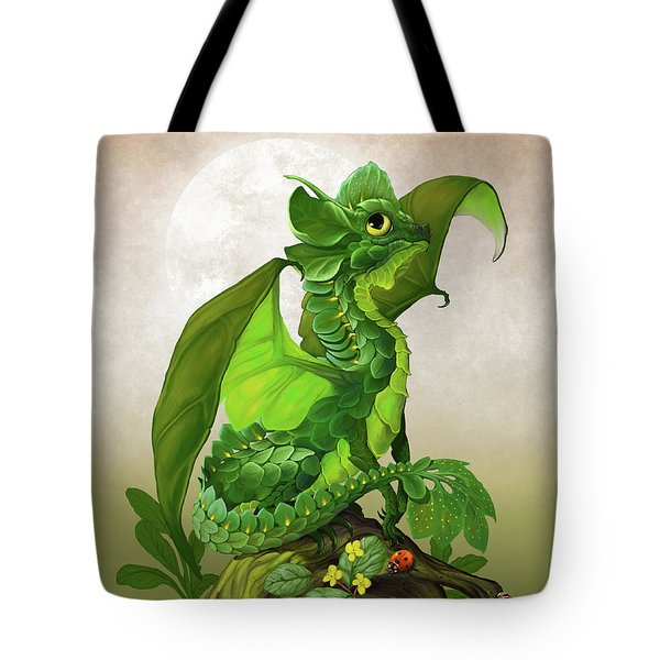 Spinach Dragon Tote Bag