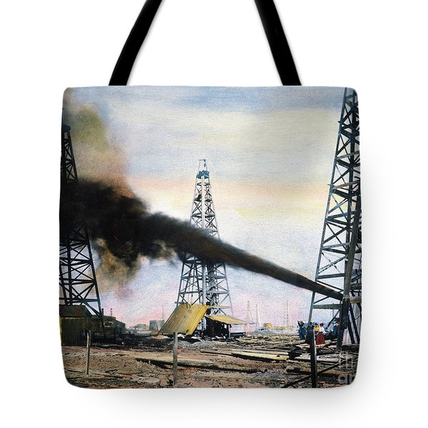 Tote Bag featuring the photograph Spindletop Oil Pool, C1906 by Granger