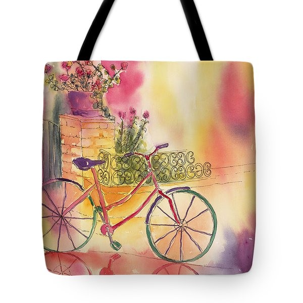 Spindly Spokes Tote Bag by Tara Moorman