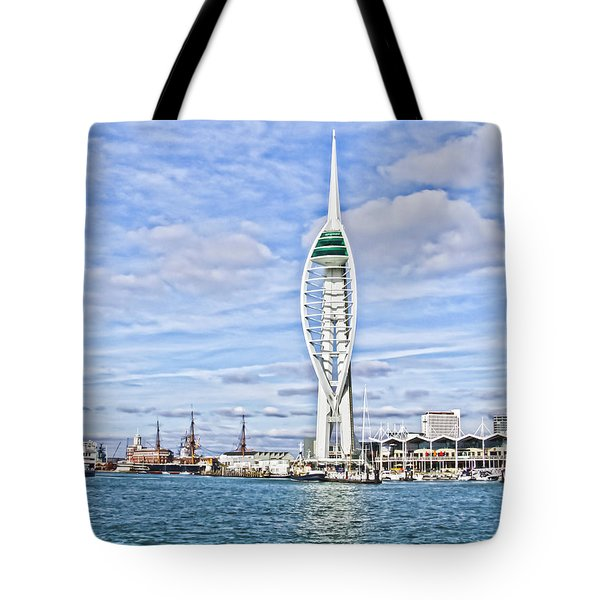 Spinnaker Tower Portsmouth Tote Bag by Terri Waters