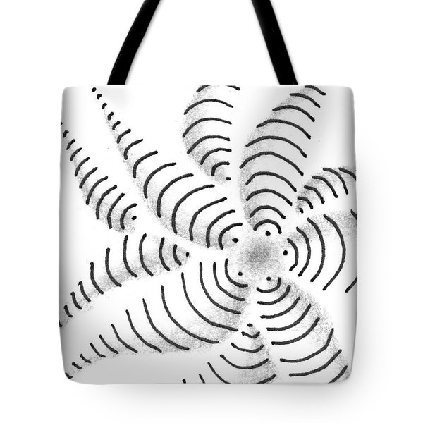 Tote Bag featuring the drawing Spinner by Jan Steinle