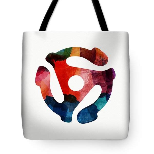 Spinning 45- Art By Linda Woods Tote Bag