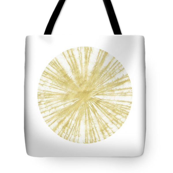 Spinning Gold Ball Art By Linda Woods Tote Bag