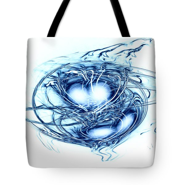 Spinning Into Place Tote Bag by Linda Sannuti