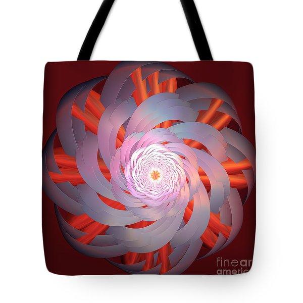 Spinning Pinwheel Tote Bag by Deborah Benoit
