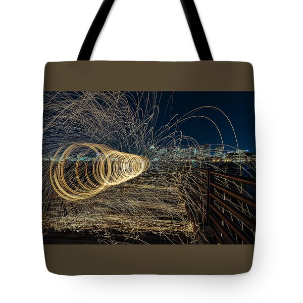 Spinning Sparks Tote Bag