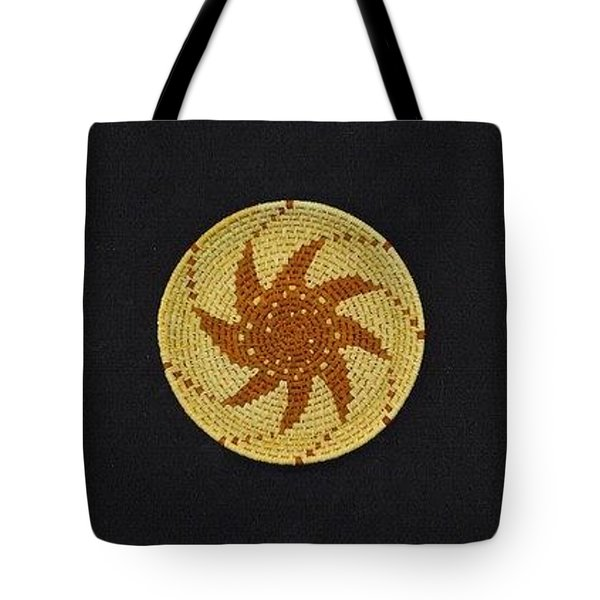 Spinning Star Double Mini Plate Basket Tote Bag by Darlene Ryer