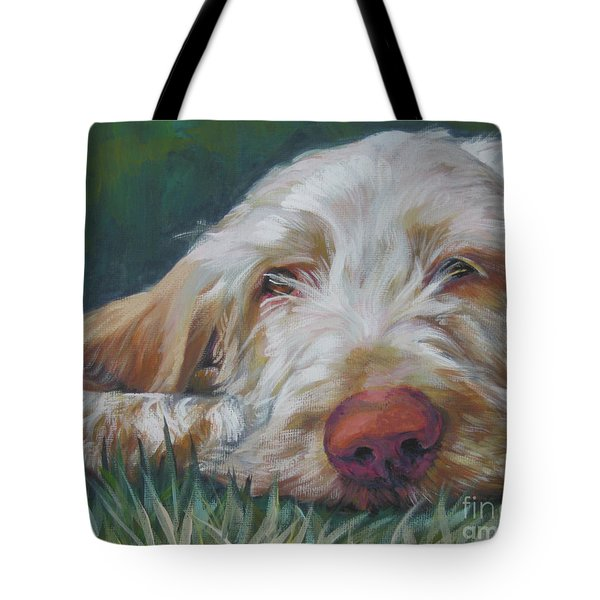 Spinone Italiano Orange Tote Bag