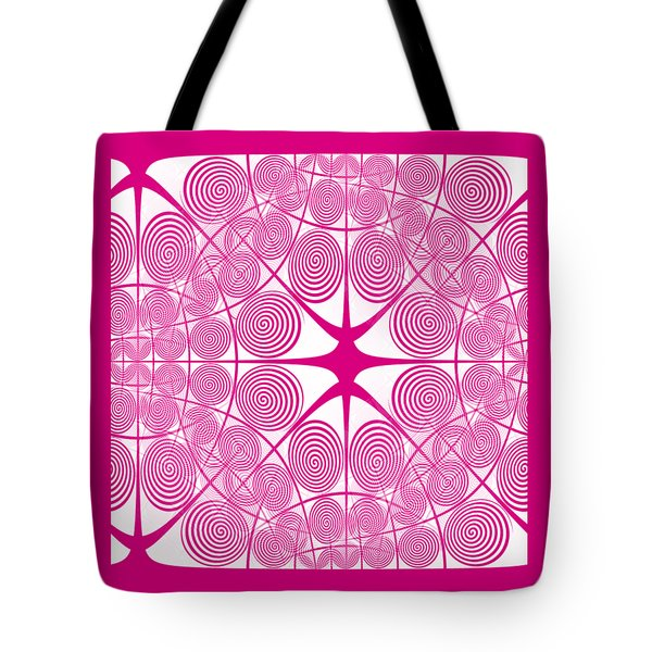 Spiral Abstract 7 Colour Choice Tote Bag